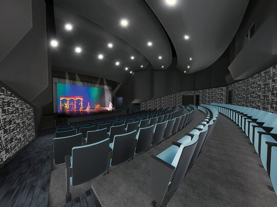 Concept design of McDonald Theatre seating by HDR, an international architecture firm based in Omaha.