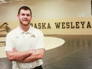 Jacob LaMarche's football injury led him down the road to a major in athletic training. His research on his own injury was presented at the National Athletic Trainer's Association Symposium and the Canadian Athletic Therapist Association Symposium.
