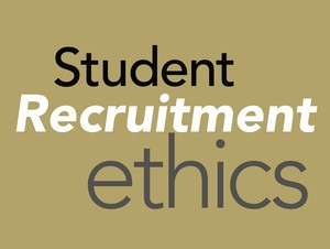Student recruitment ethics text in a graphic