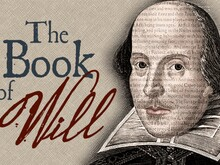The Book of Will in text alongside an image of Shakespeare