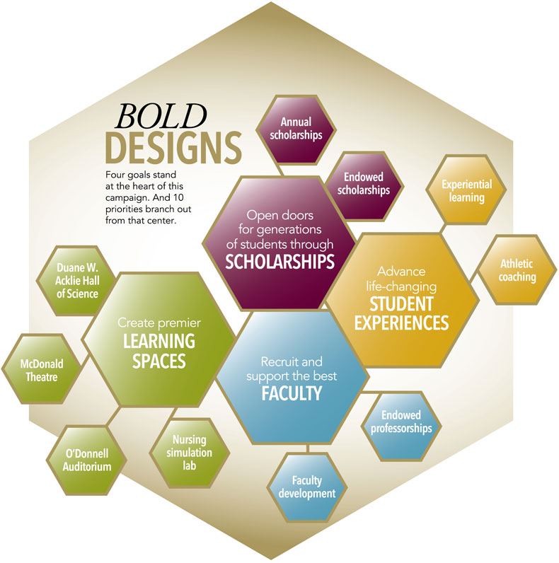 Infographic explaining the priorities of Bold Designs