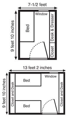 Room map of Centennial Hall