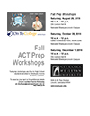 thumbnail image of ACT test prep flyer