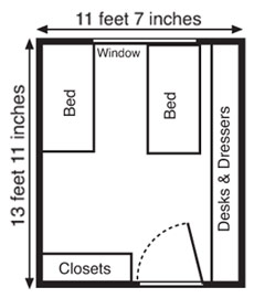 Room map of Plainsman Hall